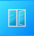modern plastic window with blue glass vector image vector image