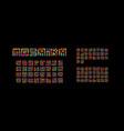 mosaic ukrainian english and russian alphabet vector image vector image
