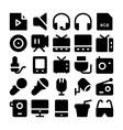 Multimedia Icons 10 vector image vector image