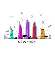 new york city memphis style 80 s 90 s vector image