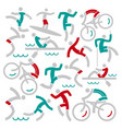 outdoor sports fitness icons background vector image vector image