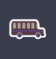 paper sticker on stylish background bus vector image vector image