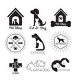 pets logo and symbol black and white vector image