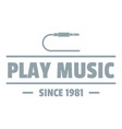 play music logo simple gray style vector image vector image