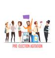 politics pre-election cartoon composition
