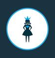 queen icon colored symbol premium quality vector image vector image
