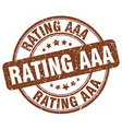 Rating aaa brown grunge round vintage rubber stamp vector image