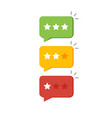 rating star like feedback concept of notice vector image vector image