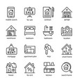 real estate icon set professional investment in vector image