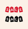 sale tag isolated red hanging sales tags vector image vector image