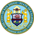 San Diego City Seal vector image