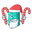santa with candy cartoon water tank for in vector image vector image