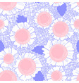 seamless pattern with daisy flowers background vector image vector image