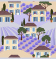 seamless pattern with white french houses vector image vector image