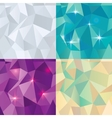 Seamless Polygonal Pattern Background vector image vector image