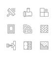 set line icons house repair vector image