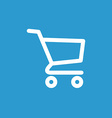 shopping cart icon white on the blue background vector image vector image
