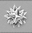 silver realistic bow isolated vector image