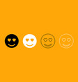 smile black and white set icon vector image