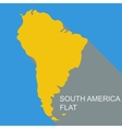 South America flat vector image