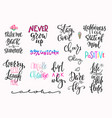 summer lettering typography big set vector image vector image