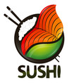 sushi and rolls symbol vector image
