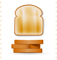 Toast Icons Top and Side View vector image vector image