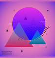Triangles abstract geometric memphis elements