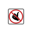 usa traffic road signs no hitchhiking allowed vector image vector image