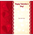 Valentines day greeting card with hearts vector image vector image