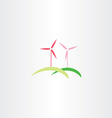 wind turbine icon logo vector image