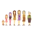 Women generation at different ages from infant vector image vector image