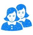 Women Grainy Texture Icon vector image vector image