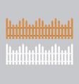wooden fence farm wood wall yard vector image vector image