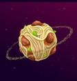 spaghetti planet concept vector image