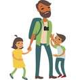young father vector image