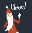 santa cheers vector image
