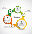 Abstract infographic in the form of metabolic vector image vector image