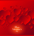 abstract valentines day red color background vector image