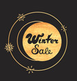 advertising discount banner winter sale hand drawn vector image vector image