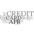 apr credit card truths and traps text word cloud vector image vector image