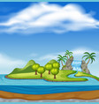 beautiful nature island landscape vector image vector image