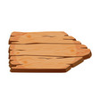 blank wooden signboard old wood panel natural vector image