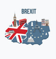 brexit concept flags united kingdom and vector image vector image