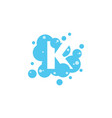bubble with initial letter k graphic design vector image vector image