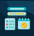 check-in and check-out term flat concept icon vector image vector image