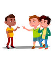 child racism two white boys laughing at afro vector image vector image