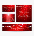 christmas banners with garlands vector image vector image