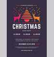 christmas party flyer invitation retro typography vector image vector image