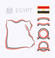 Colors of Egypt vector image vector image